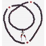 Mala Bead Necklace, rosewood with white spacers and dorje/vajra Mala Bead Necklace rosewood with white spacers and dorjevajra 8mm Please Click the image for more information.
