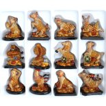 Astrology Animal Statues, Set of 12, Gold Astrology Animal Statues Gold Set of 12 Each Statue Approx  H  75 x W  75mm Please Click the image for more information.