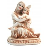 Yashoda holding baby Krishna Statue, Ivory Yashoda holding baby Krishna Statue IvoryCream Matt Finish H 135 x W  110 x D  110mm  Lord Krishna was born to Princess Devaki and Yasudeva  To avoi. Please Click the image for more information.