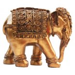 Majestic Indian Elephant Statue Majestic Indian Elephant Statue Gold H 170 x W  210 x D  100mmThe Elephant is the symbol of strength wisdom and prudenceThe Ele. Please Click the image for more information.