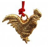 Rooster Gold metal pendant on red cord, Pendant:  H:  20mm x W:  25mm Rooster Gold metal pendant on red cord Pendant  H  20mm x W  25mm Please Click the image for more information.