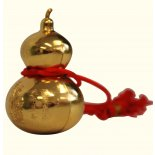 Wu Lu / Precious Gourd, 75mm, Shiny Gold on red cord Wu Lu  Precious Gourd 75mm Shiny Gold on red cord Please Click the image for more information.