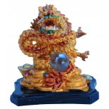 Dragon Statue, Peach Gold on Black Stand, H: 75 x W: 70 x D: 55mm Dragon Statue Peach Gold on Black Stand H 75 x W 70 x D 55mm Please Click the image for more information.