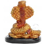 Snake Statue, Peach Gold on Black Stand, H: 80 x W: 75 x D: 55mm Snake Statue Peach Gold on Black Stand H 80 x W 75 x D 55mm Please Click the image for more information.