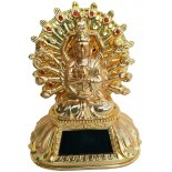 Avalokiteshvara - 1000 armed Quan Yin Solar Wheel, Lights  Avalokiteshvara  1000 armed Quan Yin Solar Wheel Lights require 2 x AAA batteries  Metal Gold H  130 x W105 x D 78mm Please Click the image for more information.