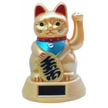 Waving Cat (Maneki Neko) Statue, Solar, Gold H123 x W80 x D83mm Waving Cat Maneki Neko Statue Solar Gold H123 x W80 x D83mm Please Click the image for more information.