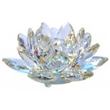 Lotus Crystal, Lemon and Clear, H:  70 xW: 130 x D: 130mm Lotus Crystal Lemon and Clear H  70 xW 130 x D 130mm Please Click the image for more information.