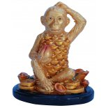 Monkey Statue, Peach Gold on Black Stand, H: 80 x W: 75 x D: 50mm Monkey Statue Peach Gold on Black Stand H 80 x W 75 x D 50mm Please Click the image for more information.