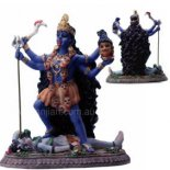 Kali Statue, Blue, H:: 130 x W: 110 x D: 60mm Kali Statue Blue H 130 x W 110 x D 60mmThe name Kali comes from the Sanskrit root word meaning time  She has . Please Click the image for more information.