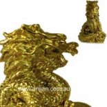 Dragon Statue in gold The golden Dragon statue for Protection and Great Kindnessmade from stone and resin composite in comes in gift box with story Please Click the image for more information.