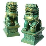 Temple Lion Statue Pair Pair of Temple Lions for protection Please Click the image for more information.