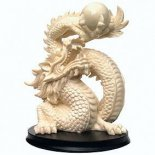 Dragon Statue Ivory on Black Stand 165mm The Dragon for Protection and Great Kindness Please Click the image for more information.