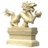 Dragon Statue Ivory on Stand 195mm the dragon for Protection and Great Kindness Please Click the image for more information.