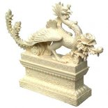 Phoenix Statue Ivory on Stand H:195 mm x W:240mm The Glorious Phoenix is kind and benevolent  it will never cause pain to another creature  This statue represents all these magnificent attributes I. Please Click the image for more information.