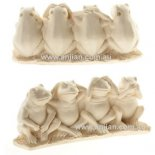4 Frogs Statue of Right Behaviour 4 Frogs Statue of Right Behaviour  Hear no evil speak no evil do no evil and see no evil Please Click the image for more information.