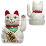 Money Cat Waving Statue, white finish 130mm, AA Battery not included Money Cat Waving symbolises wealth Maneki Neko 16031868 The Cat TempleA famous legend connected to the Lucky Money Cat is about a temple in Kyoto Japan called Shonenji more commonly known as Nekodera The Cat Temple A kindly pri. Please Click the image for more information.