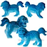 Fu Dog Statues, Sky Blue, Pair,   Pair of Fu Dogs statues in brilliant sky blue finish Please Click the image for more information.