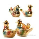 Mandarin Duck Statues, Pair. Golden Pair of golden Mandarin Ducks  FigurineA pair of Mandarin Ducks are representative of  keeping love alive Th. Please Click the image for more information.