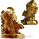 Rat Statue holding Ingot Rat holding ingot to symbolise wealth Generosity and CreativityThe Rat is associated with gods of wisdom success and prosperity Lord . Please Click the image for more information.