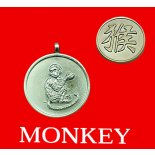 Monkey round Double Sided Character/Chinese Calligraphy Pendants Monkey pendentround Chinese year of Animal with Calligraphy pendent on black cord Please Click the image for more information.