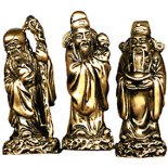Stargod Statues Gold 145mm - Set of 3 Fu Lu Shou set of three star gods representing happiness health and wealth Please Click the image for more information.