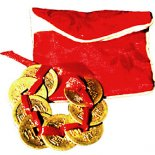 8 I Ching Coins tied with red ribbon and pouch COINS FOR WEALTH These 8 I Ching Coins linked together with a red ribbon are believed to attract good fortune and prosperity Yo. Please Click the image for more information.