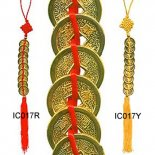 9 Gold Emperor Coins Tied with Red Tassel 9 gold finish Emporer coins tied with red ribbonThese important I Ching coins may be placed in the wealth sector of your home or office which is the South East . Please Click the image for more information.