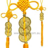 "Gold Dragon & Phoenix 3 Coins tied with yellow tassel ""Love & Protection"" Gold Dragon  Phoenix 3 Coins tied with yellow tassel Love  Protection Please Click the image for more information."