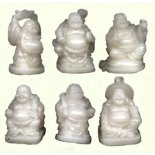 Box of 6 Standing Laughing Buddha Statues Ivory 34mm Box of 6 Standing Laughing Buddha Statues  Please Click the image for more information.