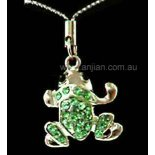 Frog with Green Dimenti Silver Hanging Frog with Green Dimenti Silver Hangingm lucky charmsfeng shui amulets Please Click the image for more information.