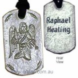 "Archangel Raphael ""Healing"" Silver Pendant on Black Cord Archangel Raphael Healing  Pendant on Black Cord Archangel Raphael whose name means  God heals is charged with healing the earth and humankind Raphaels . Please Click the image for more information."