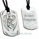 "Archangel Michael ""Protection"" Silver Pendant on Black Cord Archangel Michael Protection Silver Pendant on Black Cord As heavens greatest defender and mightiest warrior against evil Michael meaning Who is like God is considered by Judaism Christianity and Islam to be the greatest of all the Archangels Often depicted wit. Please Click the image for more information."