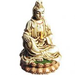 Quan Yin Statue Ivory 95mm Quan Yin statue sitting holding vase of Compassion Goddess of Mercy and Compassion For Flying Stars 2010 place in the northwest Quan Yin is a Bodhisattva one who has vowed to stay on earth until all suffering has vanishedShe is. Please Click the image for more information.