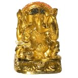 Ganesha Elephant God Statue, Gold 100mm Ganesha Remover of ObstaclesThe elephant headed God  Ganesh also known as Ganesha is known as the Remover of Obstacles and Lord of Beginnings As t. Please Click the image for more information.