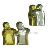 Huggers gold and silver Set of two huggers statues Representing yin Silver and yang Gold Please Click the image for more information.