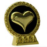 Gold heart on stand 75mm Heart on stand dont wear it on your sleeve An original design by Annie A golden Heart that is so full it almost comes out of the golden frame Ano. Please Click the image for more information.