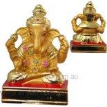Ganesha four arms on platform 75mm Ganesha statue with four arms standing on platform statue gold Please Click the image for more information.