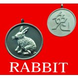 Rabbit pendent Australian made pewter  Round Year of the AnimalRabbit pendent on black cord Double sided Please Click the image for more information.