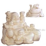 Sitting Laughing Buddha with Children Sitting Laughing Buddha with Children exquisite detail on this statue The Buddha at PlayWhen the Laughing Buddha is seen playing with many children usually five in number this symbolises good fortune arriving from the heavens  Maitreya . Please Click the image for more information.