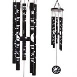 Yin Yang Black & White Metal Windchime, 6 rods 530mm Yin Yang Black  White Metal Windchime  6 rods Please Click the image for more information.