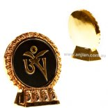 Tibetan Om Symbol Statue h:70mm x w:63mm Tibetan Om symbol on stand Original design by AnnieGold on black   Please Click the image for more information.