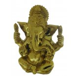 Ganesha Statue,   Gold Finish, Hand Painted Shaoshan Stone,120mm Ganesha with four arms statue Remover of Obstacles The elephant headed God  Ganesh also known as Ganesha is known as the Remover of Obstacles and Lord of Beginnings As . Please Click the image for more information.