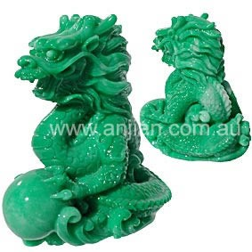 Dragon Statue in jade finish | Dragon | Anjian Australia