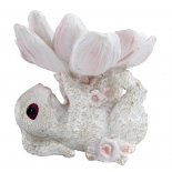 Rabbit and Lotus Cute baby Rabbit holding lotus with its feet This can used as a holder for a special gift Easter egg  chocolates or by itselfMad. Please Click the image for more information.