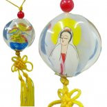 Quan Yin and Dragon Glass hanging Meticulously painted from the inside this hanging of Quan Yin and the Dragon represents the male and female energy that is within all phenomena. Please Click the image for more information.