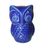 Blue Owl figurine Very gorgeous Owl figurine in French Blue glossy ceramic Please Click the image for more information.