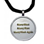 Merry Meet Merry Part, Merry Meet Again gold on silver finish pendant  Merry Meet Merry Part Merry Meet Again gold on silver finish pendant on black cord Pagan symbolism for friendship     Please Click the image for more information.