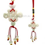Jade Lucky Knot Lucky Knot Jade Hanging symbolises never ending good fortune Can be used for carhome or hang on your bag Please Click the image for more information.