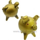 Gold Chancito statue In Chile the delightful three legged little pig called Chanchitos is believed to bring good luck and good fortune T. Please Click the image for more information.