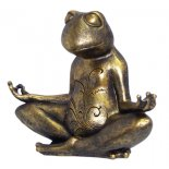 Meditating Frog statue Meditating Frog statueJust gorgeous meditating frog sitting in meditation pose Quite a powerful message too if our frogs are happy then our earth is happy Mad. Please Click the image for more information.